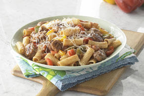 Sausage with Peppers and Pasta