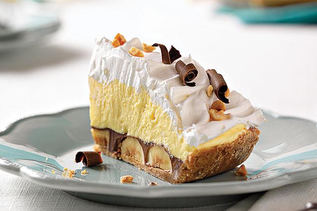 Tarta de crema de banana con mantequilla de maní y chocolate Image 1