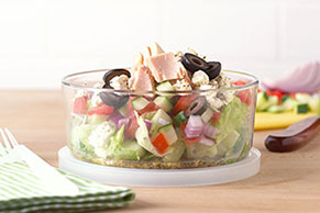 Tuna-Topped Chopped Salad-to-Go