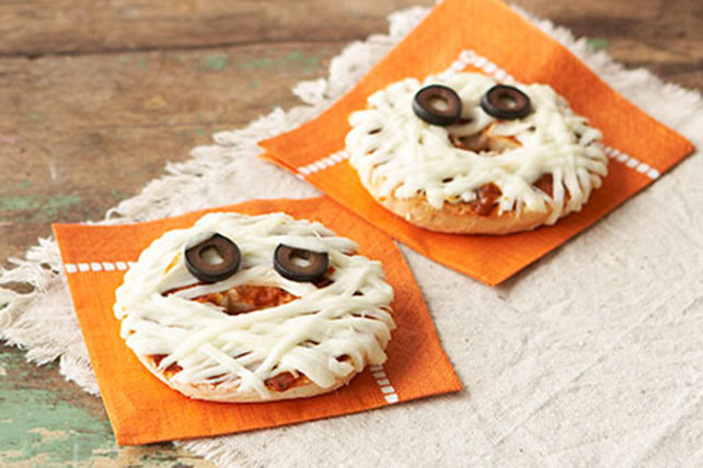 Mummy-Face Pizzas