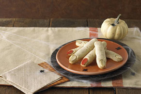 Frightening Witch's Finger Cookies