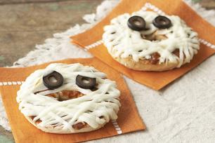 Mummy-Face Pizzas
