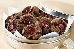 Chocolate-Raspberry Thumbprints