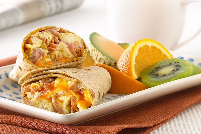 Egg, Ham and Cheese Burrito Image 1