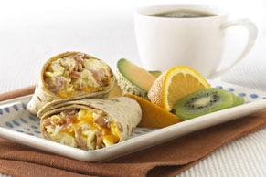 Sandwichs roulés au jambon et aux œufs