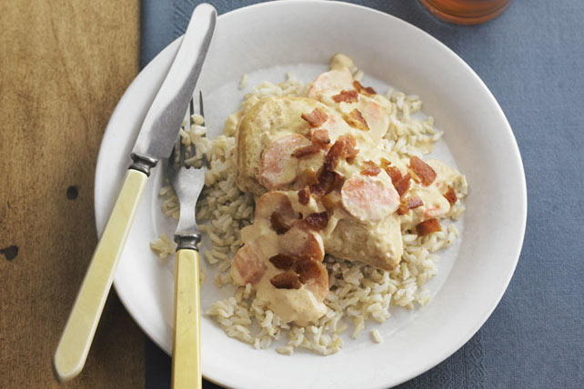 Smothered Chicken with Brown Rice Image 1