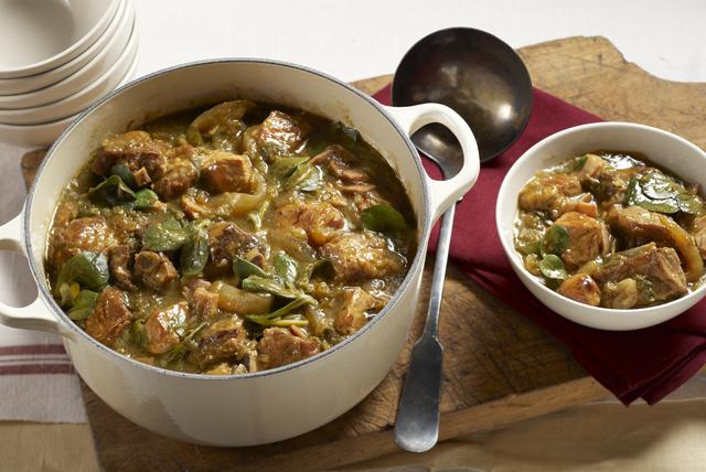 Cerdo y verdolagas en salsa verde picante Image 1