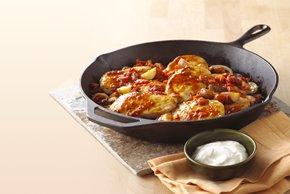 Pollo con chipotle y vegetales a la sartén