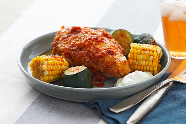 Spicy Chicken with Corn & Zucchini