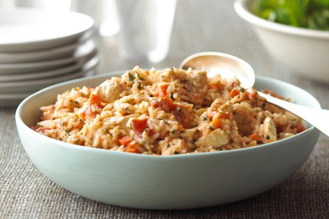 Cremoso risotto de tomate y pollo Image 1