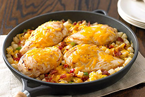 Cheddar Chicken and Potatoes