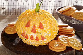 Jack-o'-Lantern Cheese Ball Image 1