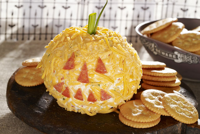 Jack-o'-Lantern Cheese Ball