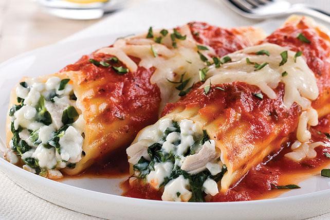Canelones de pollo y espinacas Image 1