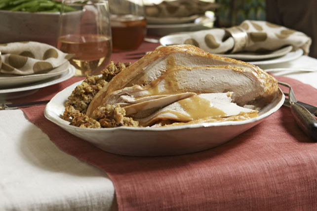 Turkey Breast with Stuffing and Gravy Image 1