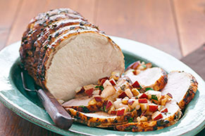 Roast Pork with Fresh Pear Salsa