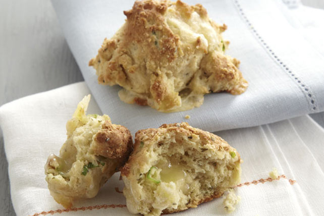 Double-Cheese Drop Biscuits Recipe - Kraft Canada