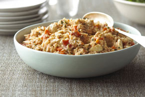 Creamy Tomato-Chicken Risotto