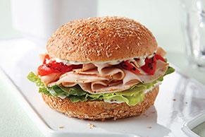 Sabroso sándwich de pavo