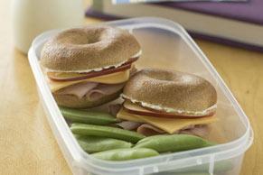Baby Bagel Sandwiches
