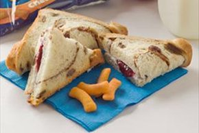 Cinnamon Raisin Fold-Over Sandwiches