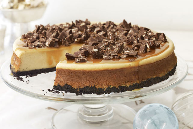 Chocolate-Topped Caramel Cheesecake Image 1