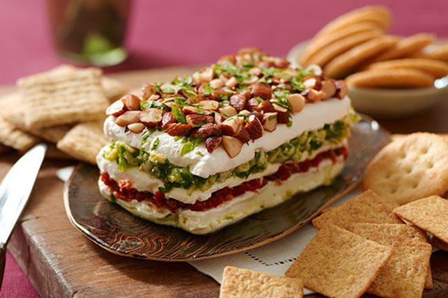 Layered Sun-Dried Tomato and Artichoke Spread Image 1
