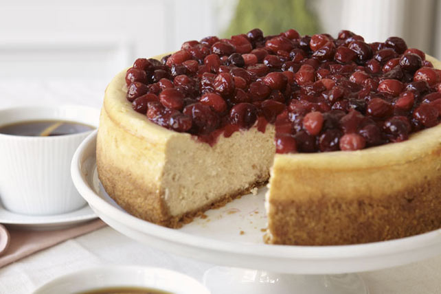 Cranberry-Glazed Cinnamon Cheesecake Image 1
