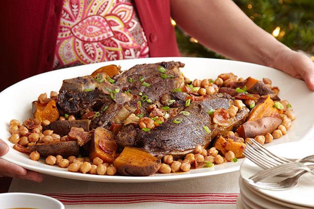 Sabrosa carne asada con camotes y garbanzos Image 1