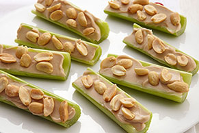 Nutty Celery Snacks