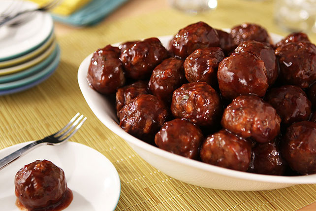 Mini Cranberry BBQ Meatballs