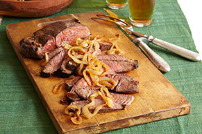 Marinated Steak with Caramelized Onions