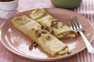 Peanut Butter-Banana Crêpes