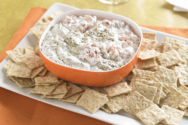 Roasted Red Pepper and Pesto Dip