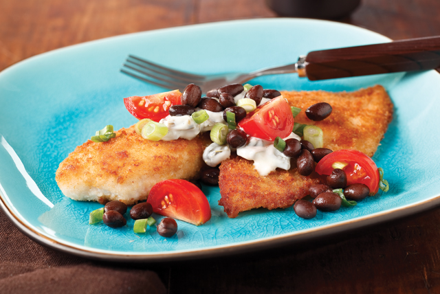 Breaded Tilapia with Black Bean Salsa Image 1