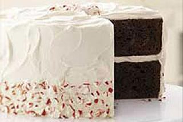 Chocolate Candy Cane Cake Image 1