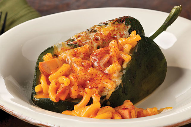 Mac & Cheese Stuffed Poblanos Image 1
