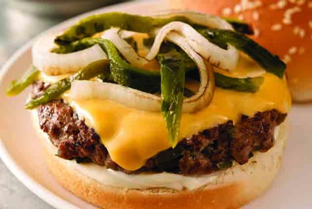 Cheesy Poblano Burgers Image 1
