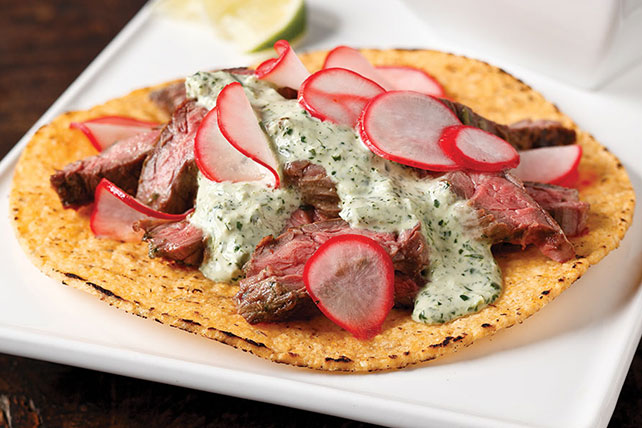 Steak Tostadas with Radish Salad Image 1