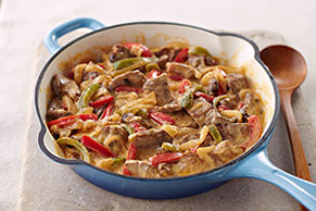 Creamy Pepper Steak