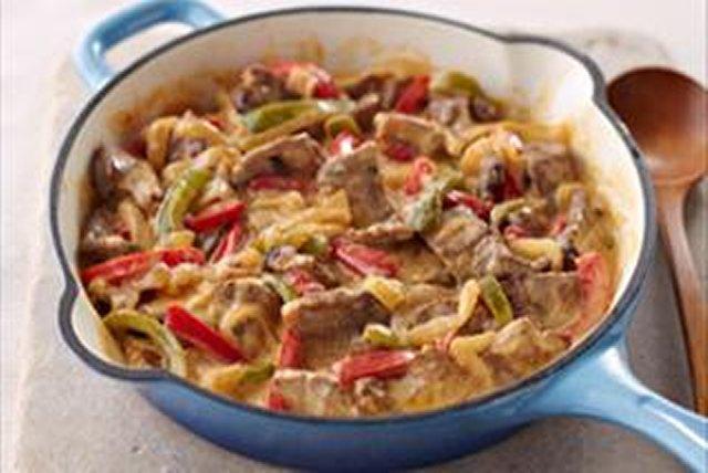 Bifteck aux poivrons en sauce crémeuse Image 1
