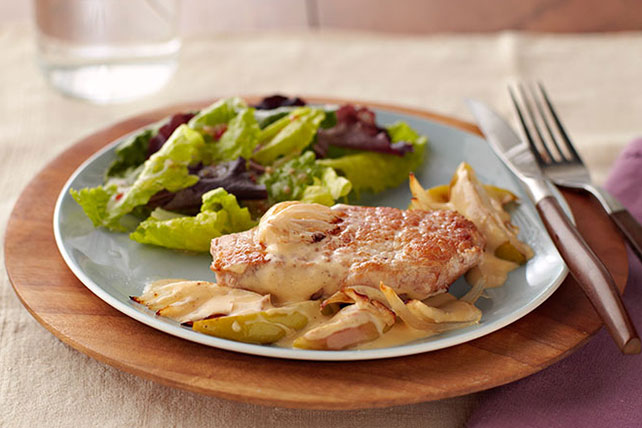 Cheesy Smothered Pork Chops Image 1