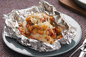 Foil-Pack Bruschetta Chicken Bake
