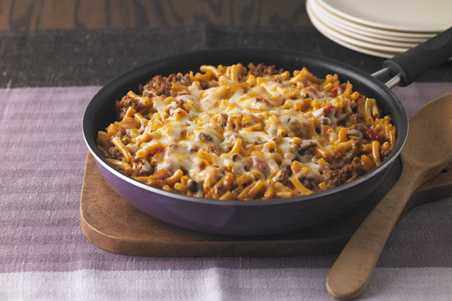 Cheesy Macaroni-Beef Skillet Image 1