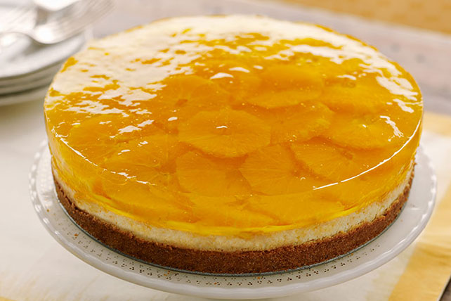 Citrus-Gelatin Layered Cheesecake