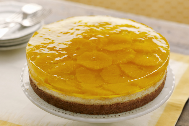 Citrus-Gelatin Layered Cheesecake Image 1