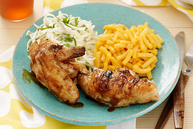 Grilled BBQ Chicken with Jalapeño Slaw Image 1