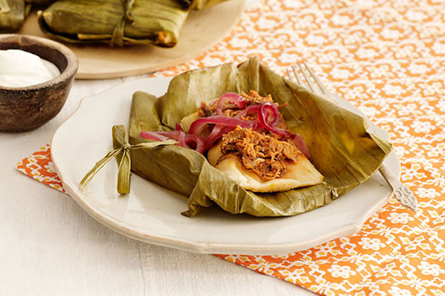 Shredded Pork Tamales with Pickled Onions Image 1