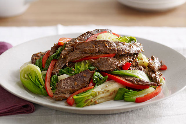 Asian Beef with Baby Bok Choy Image 1