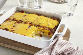 VELVEETA® Cheesy Bacon Brunch Casserole Image 2